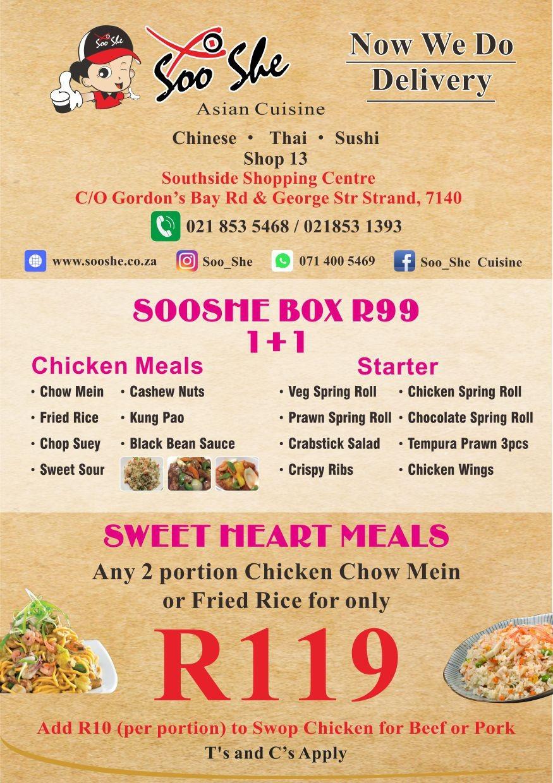 SooShe menu
